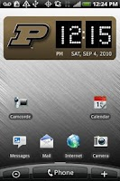 Screenshot of Purdue Boilermakers Clock