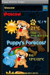 Puppy Weather Widget screenshot 2