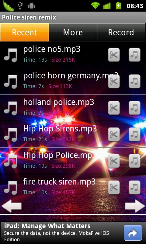 Police siren remix - screenshot