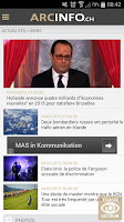 Screenshot of ArcInfo en continu