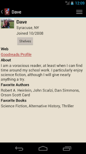 Goodreads Droid - screenshot thumbnail