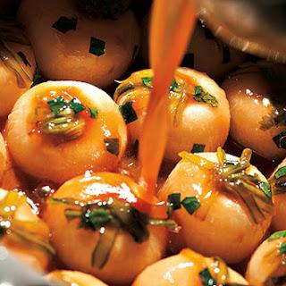 My Chicken Broth-Braised Baby Turnips