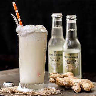 Ginger Beer Float with Vanilla Bourbon Ice Cream.