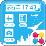 Tower sky for[+]HOMEきせかえテーマ latest version