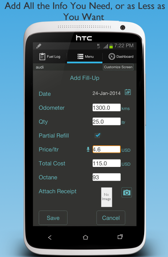 Fuel Buddy - Car & Mileage Log - screenshot