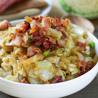 Sweet and Sour Cabbage with Bacon.