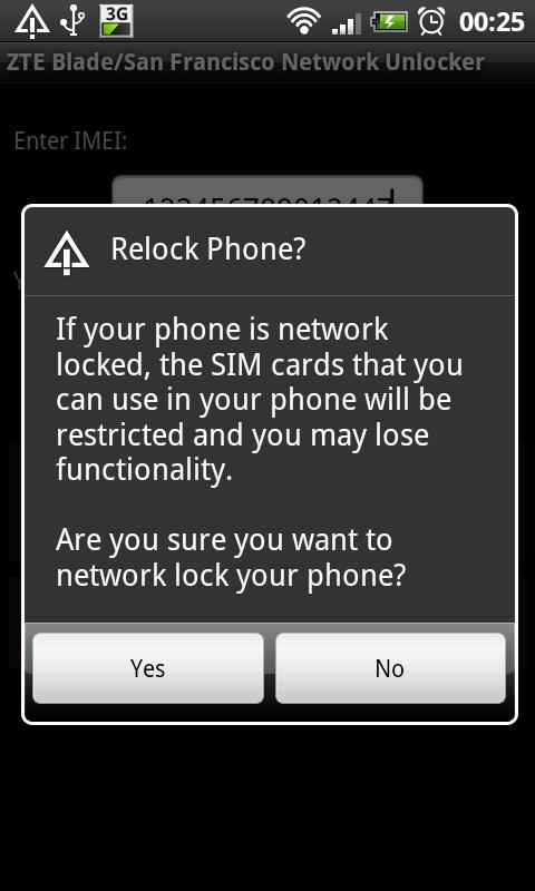 DroidGram Network Unlock Pro - screenshot