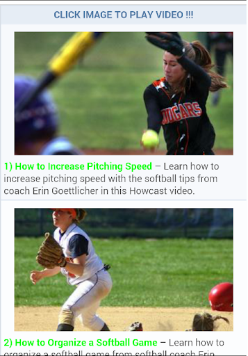 Free Softball Lessons