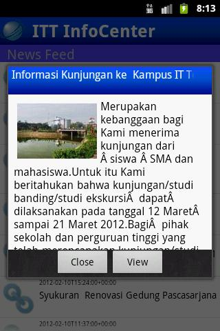 ITT InfoCenter- screenshot