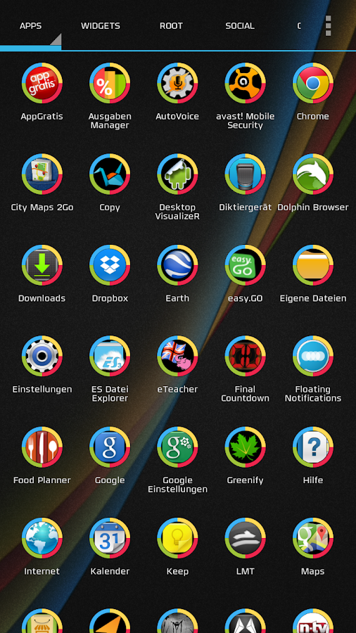 The Droid Effect icon theme 1- screenshot
