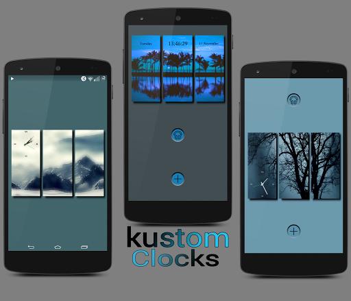 Kustom clocks for KLWP