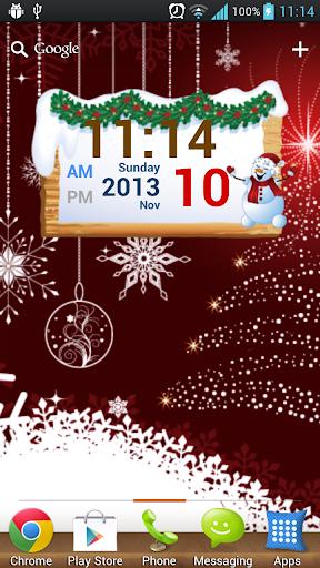 聖誕節數字時鍾