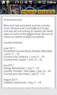 Wisconsin Country Music Fests - screenshot thumbnail