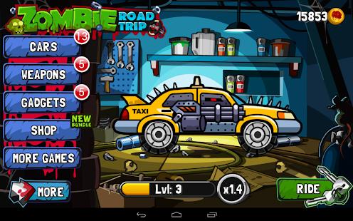 Zombie Road Trip Screenshot