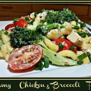 Creamy Chicken & Broccoli Pasta.