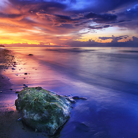 After The Rain by Kadek Jaya - Landscapes Sunsets & Sunrises ( sky, colourful, blue, wave, slow )