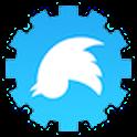 Text & Tweet upside down icon
