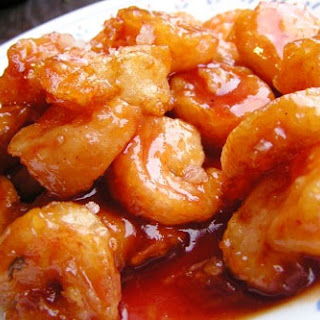 Stir-Fried Shrimp with Tomato Sauce.