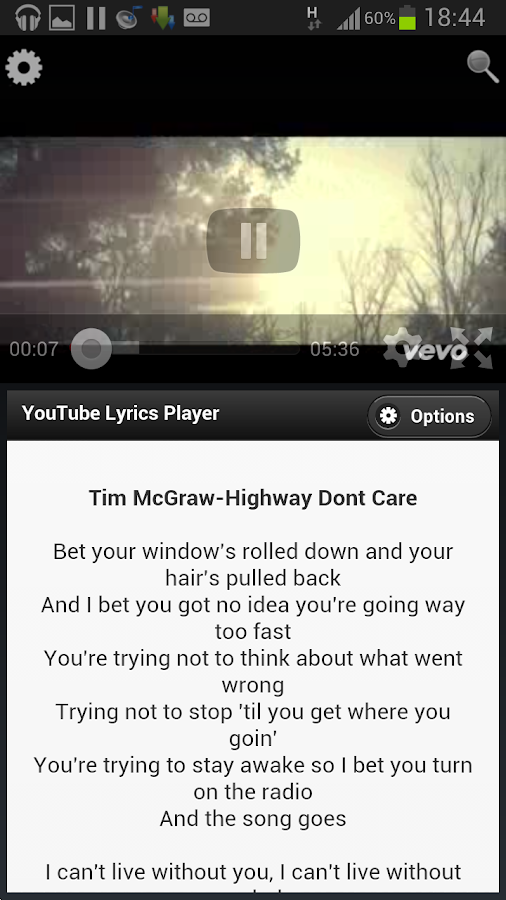 Lyrics4Tube - Lyrics Player - screenshot