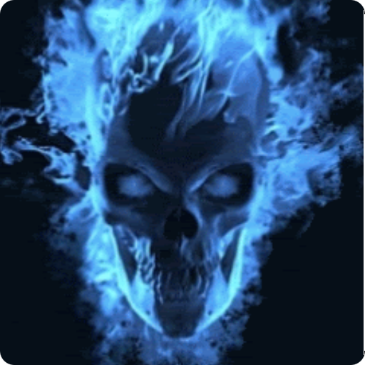 blue flames skull flame - photo #28