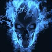 Blu Flame Skull Live Wallpaper
