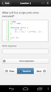 PHP Study Quiz App- screenshot thumbnail