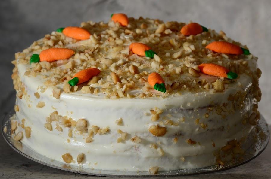 Carrot-Walnut Cake by Ian Paez - Food & Drink Cooking & Baking ( cake, wallnut, carrot, baking,  )