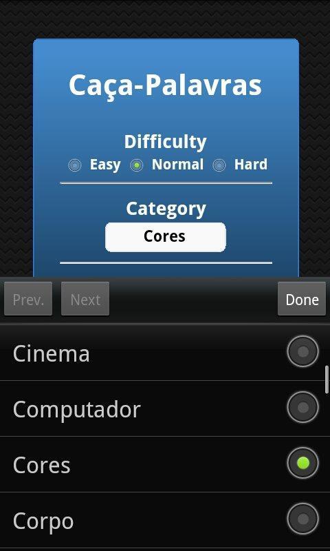 Caça-Palavras - screenshot
