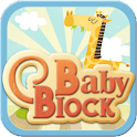 Baby puzzle block logo