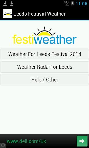 Leeds Festival Weather