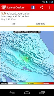 Latest Quakes- screenshot thumbnail