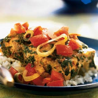 Fish Tagine with Preserved Lemon and Tomatoes.