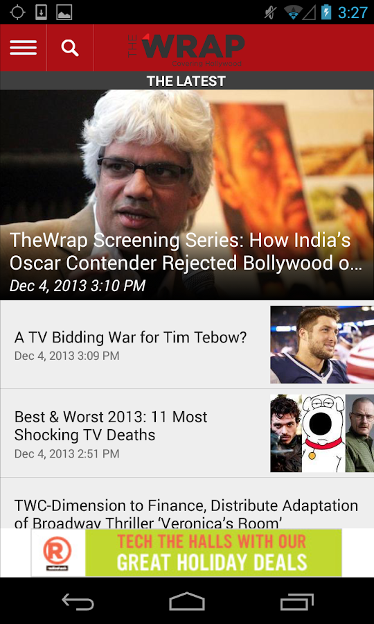 TheWrap.com - screenshot