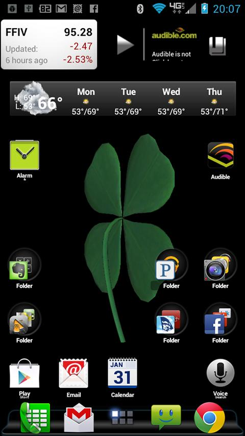 FourLeaf Clover Live Wallpaper - screenshot