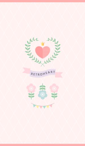 retro heart 카카오톡 테마