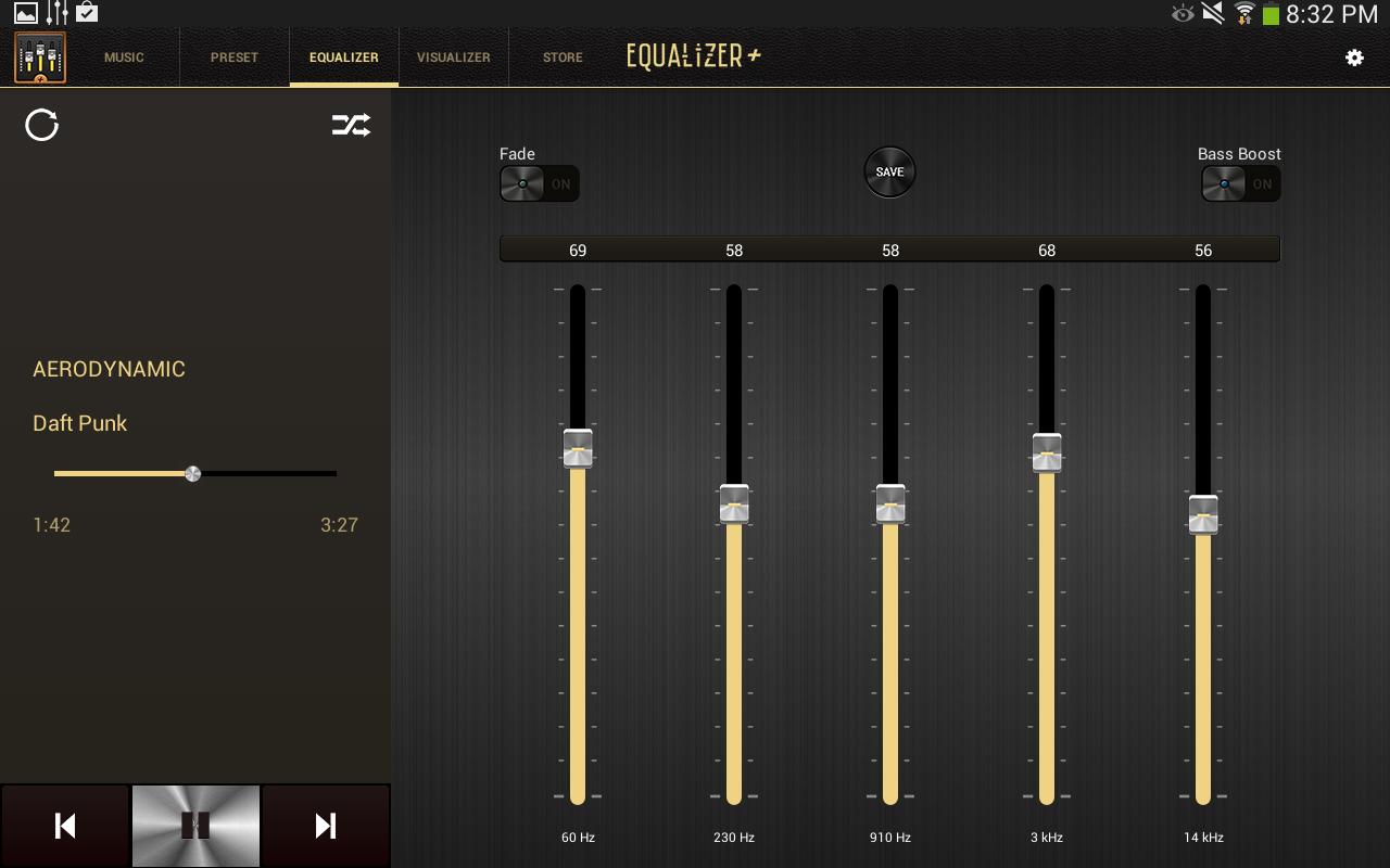 Equalizer Mp3 Player Volume Screenshot