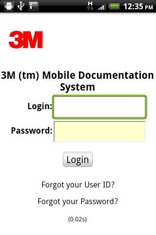 3M Mobile Documentation System - screenshot