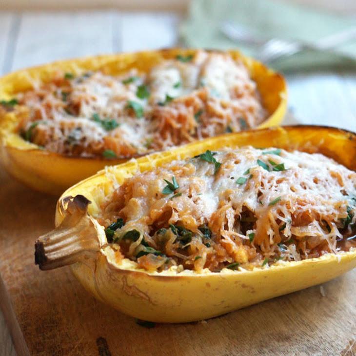 Spaghetti Squash Enchilada Boats (Grain-Free) Recipe