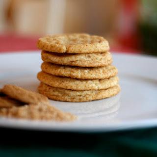 Eggnog Snickerdoodles with Ginger Snap Sugar