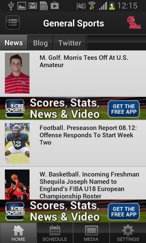 Ole Miss Sports - screenshot