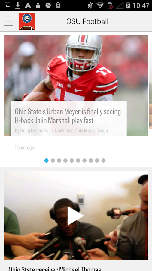 cleveland.com: OSU Football- screenshot