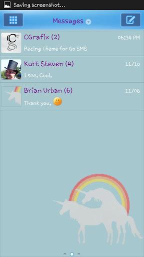 Unicorn Love Theme Go SMS