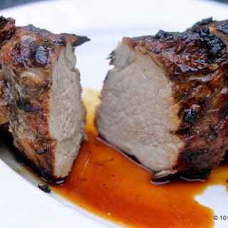 Grilled Balsamic Garlic Pork Tenderloin.
