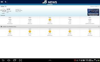 Screenshot of NBC DFW