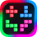 Falling blocks tetris icon