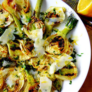Grilled Fennel Salad with Fresh Herbs and Parmesan.