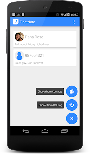 FloatNote - phone call notes- screenshot thumbnail