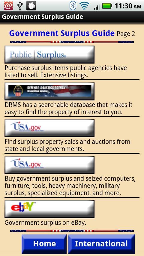 Government Surplus Guide- screenshot