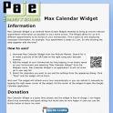 Max Calendar Widget icon