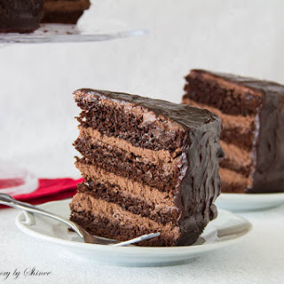 Supreme Chocolate Cake with Chocolate Mousse Filling.